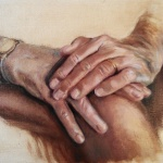 Quick color sketch of hands