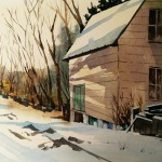 Frostburg in Winter, 11x15 inches, watercolor