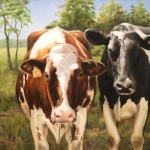 Gypsie and Paisley of Broom's Bloom Dairy and Creamery, 20x24 inches