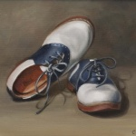 Saddle Shoes, 9x12 inches