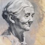 Quick Oil Sketch of Granny